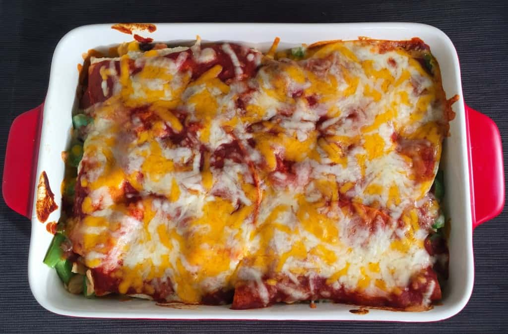 Veggie Enchilada Casserole With Homemade Enchilada Sauce