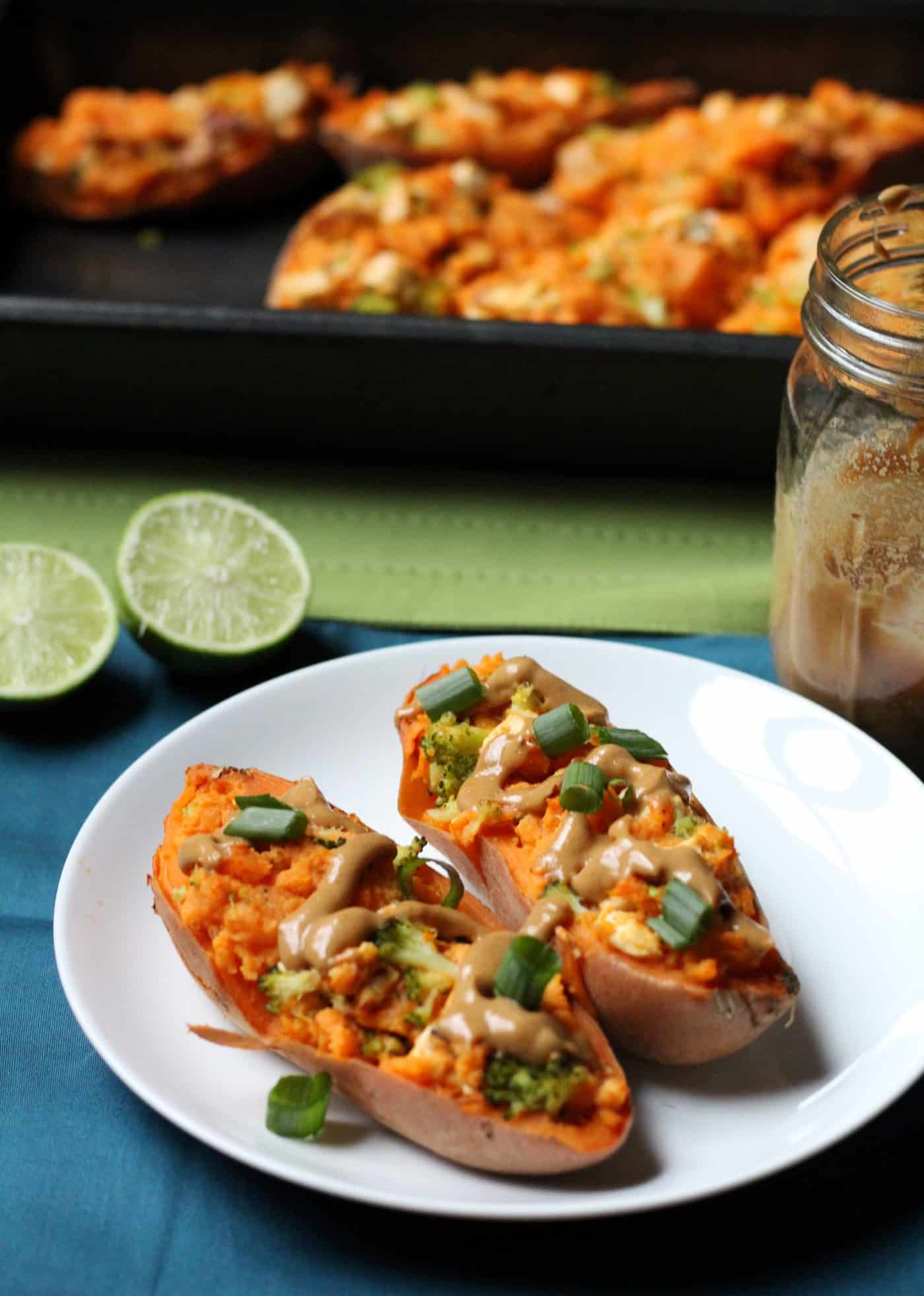 Thai Twice-Baked Sweet Potatoes with Peanut Sauce. post. May..
