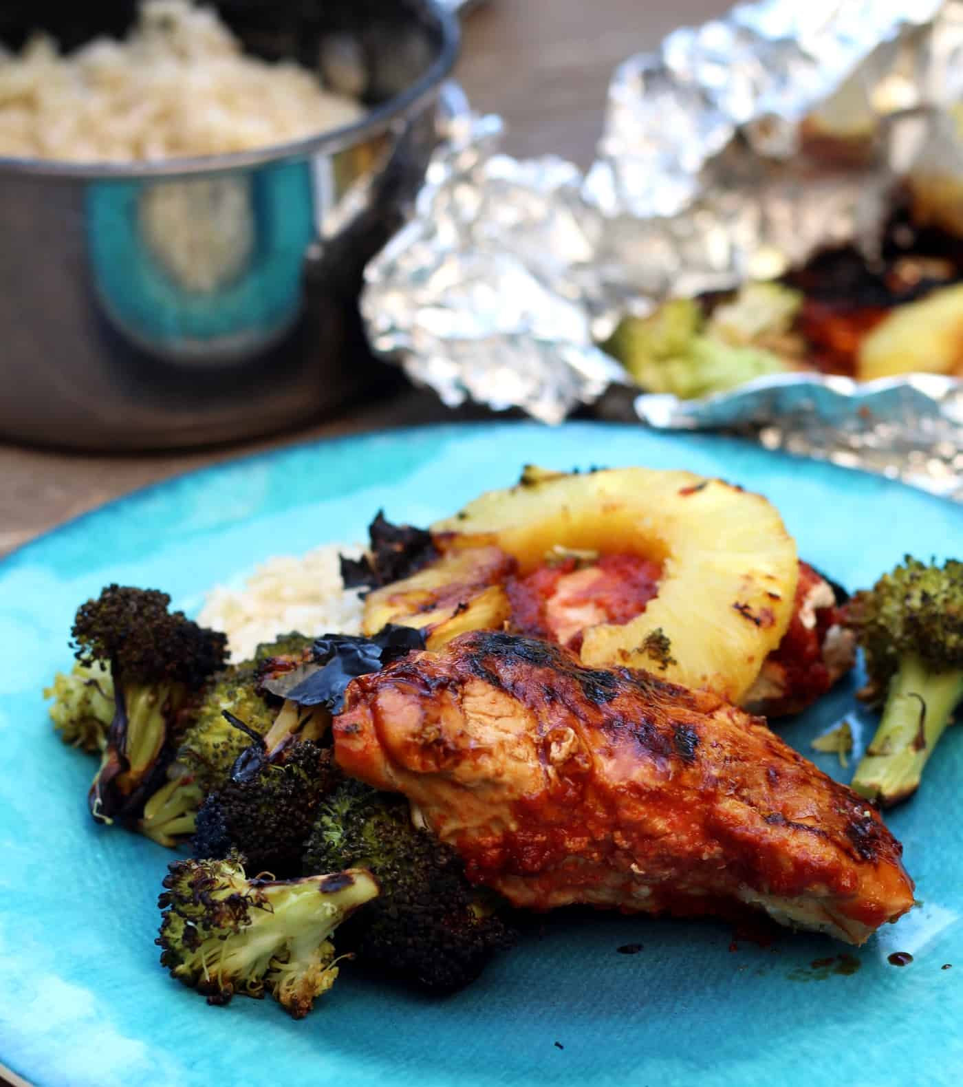 Pineapple Chicken Foil Packets