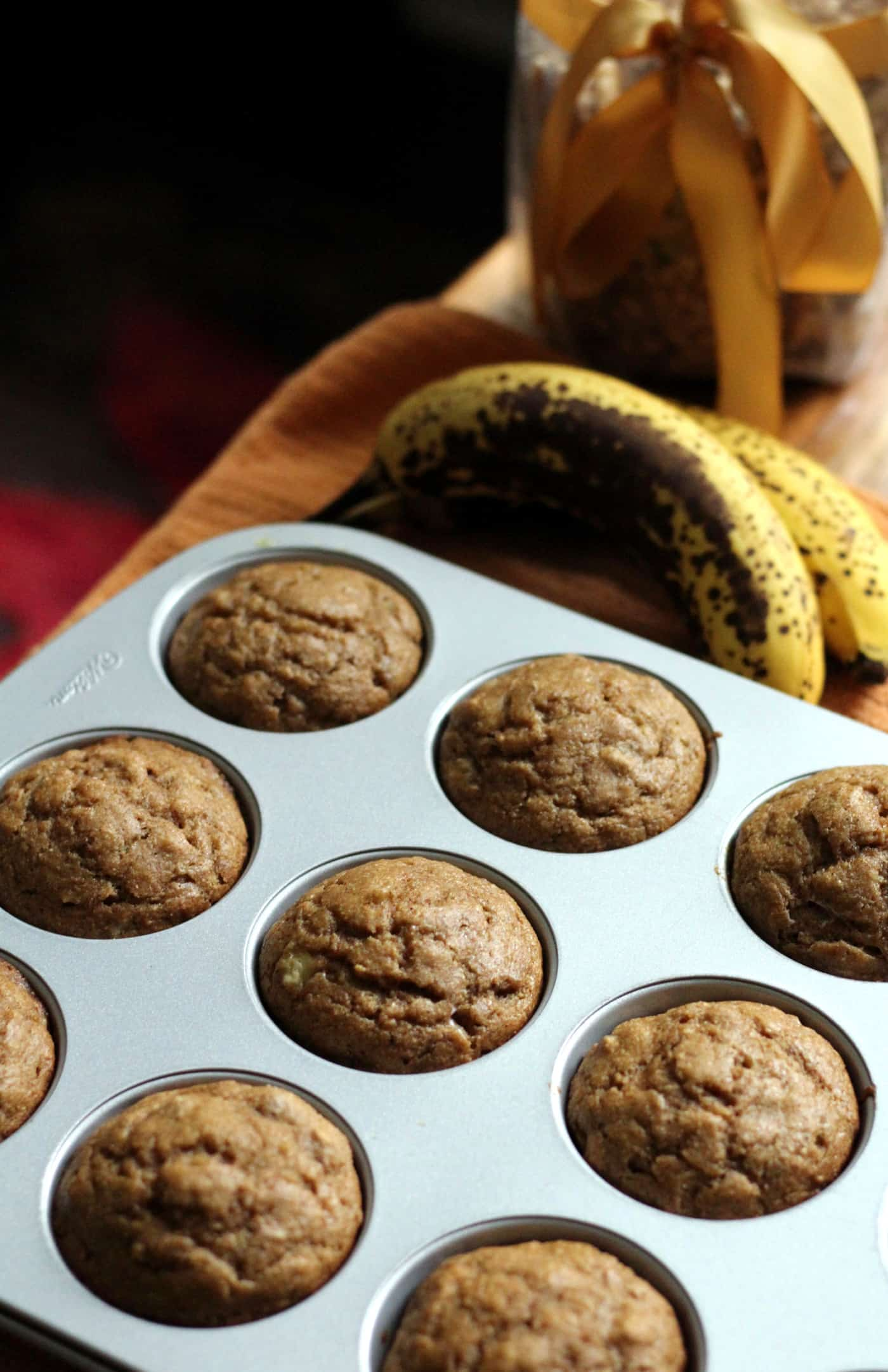 Maple Walnut Banana Muffins
