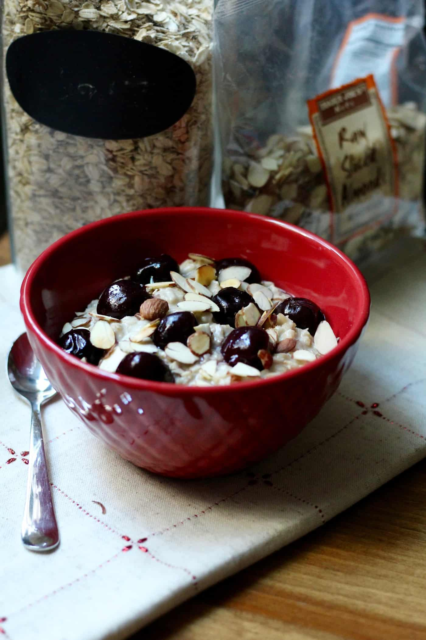 Toasted Almond Cherry Oatmeal