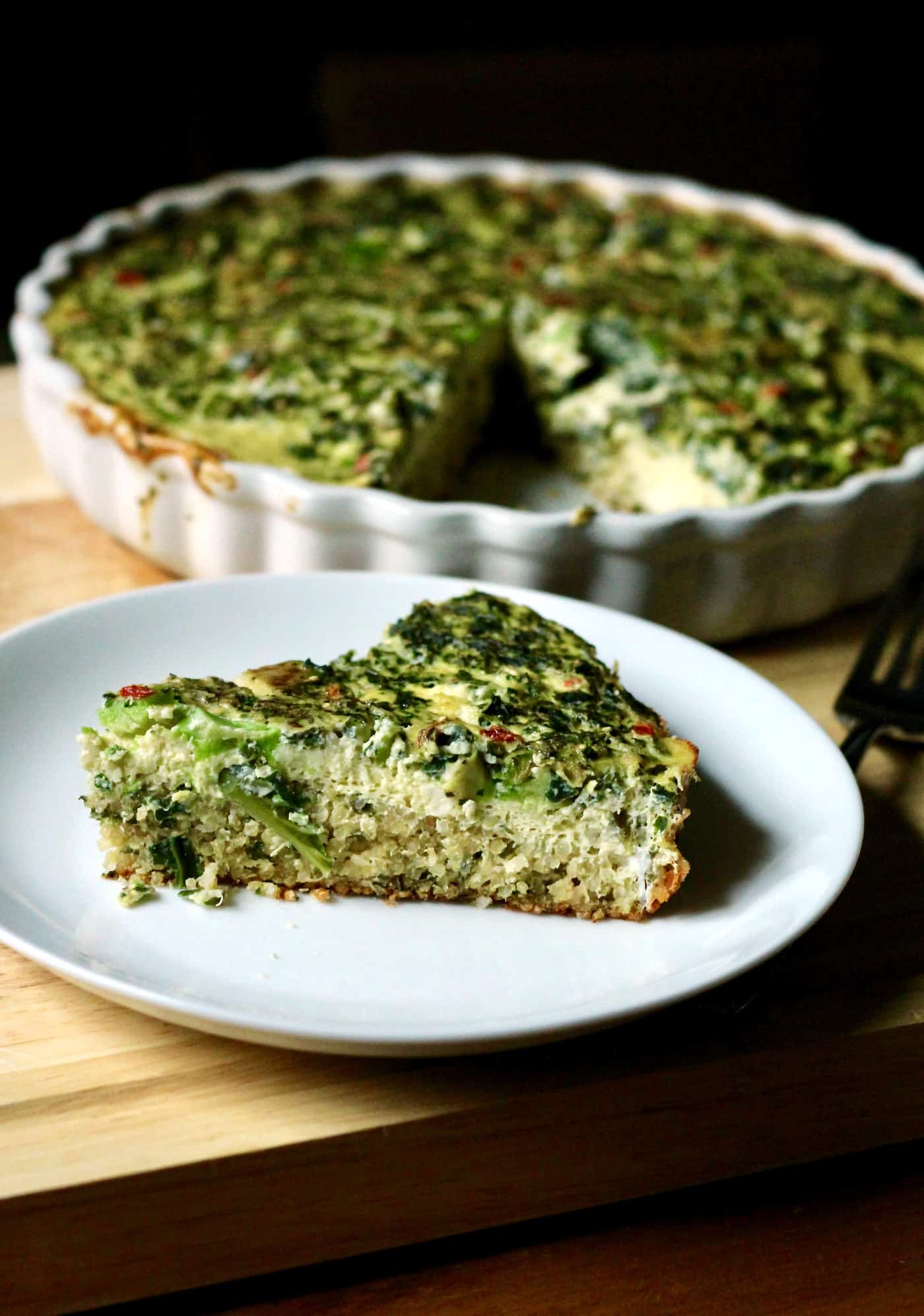 Quinoa Avocado Quiche