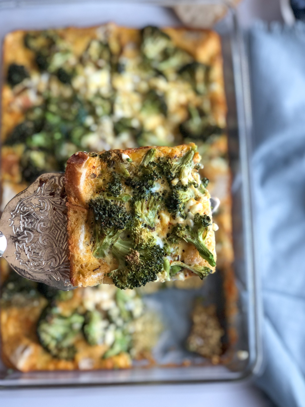 Healthy Overnight Broccoli and Egg Breakfast Casserole