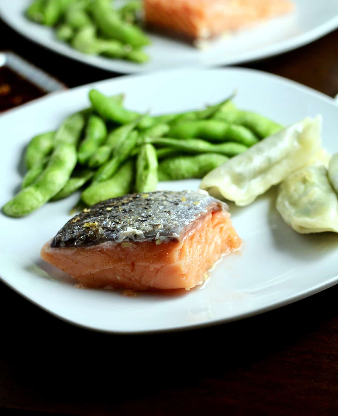 Sous Vide Garlic and Ginger Salmon