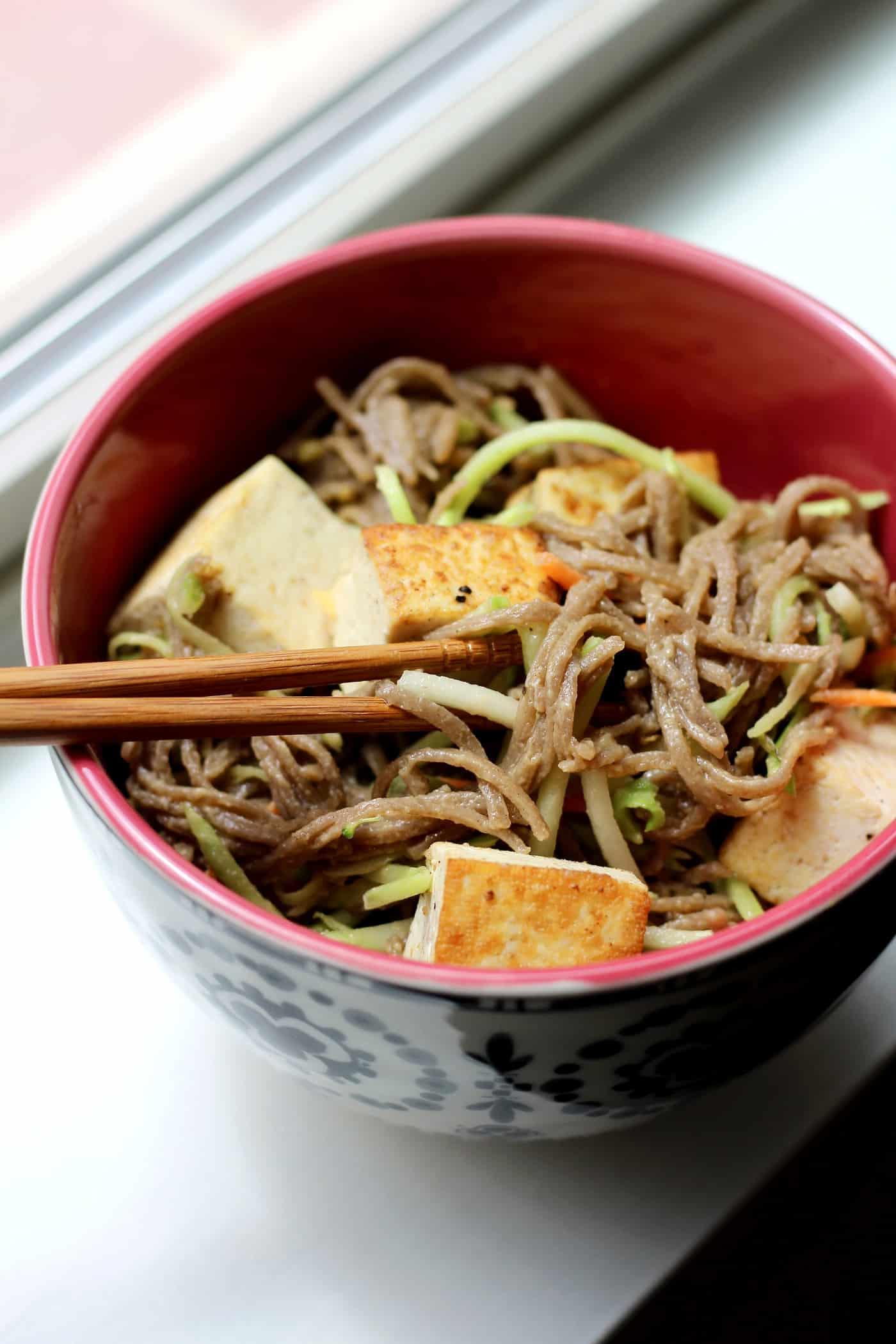 Cold Soba Noodles with Lemon-Almond Dressing