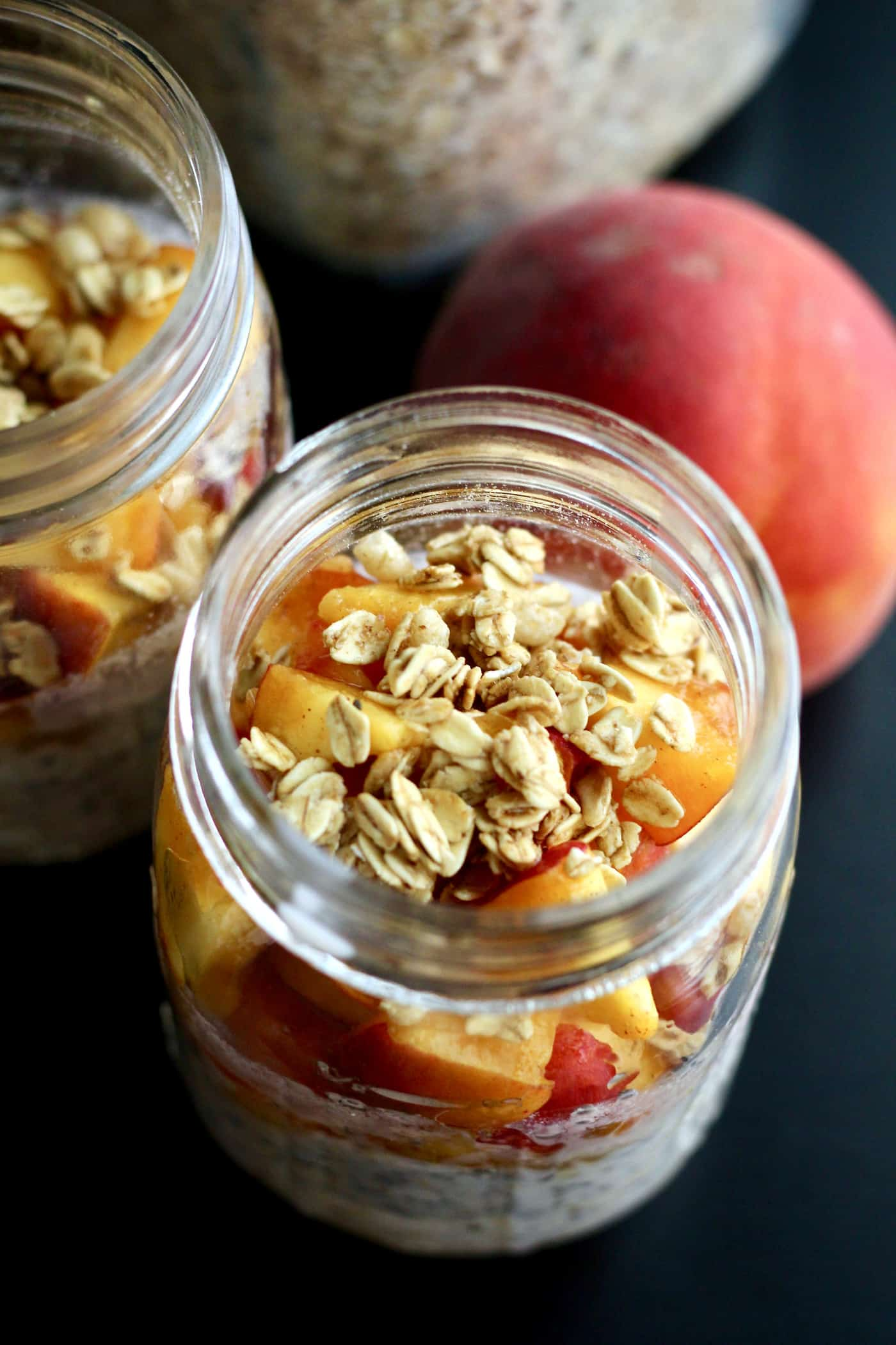 Peach Crisp Overnight Oats
