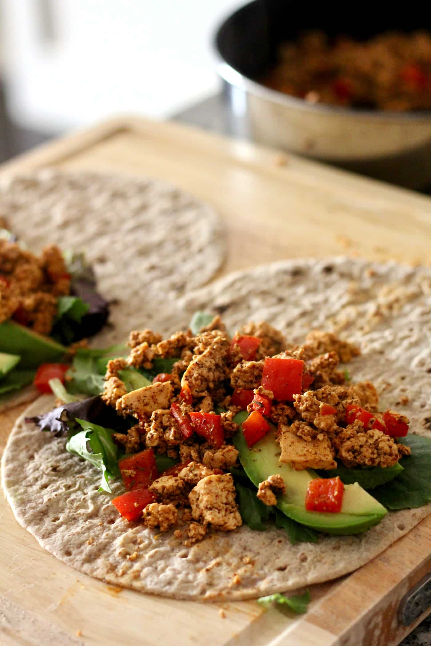 Fiesta Tofu Breakfast Wrap