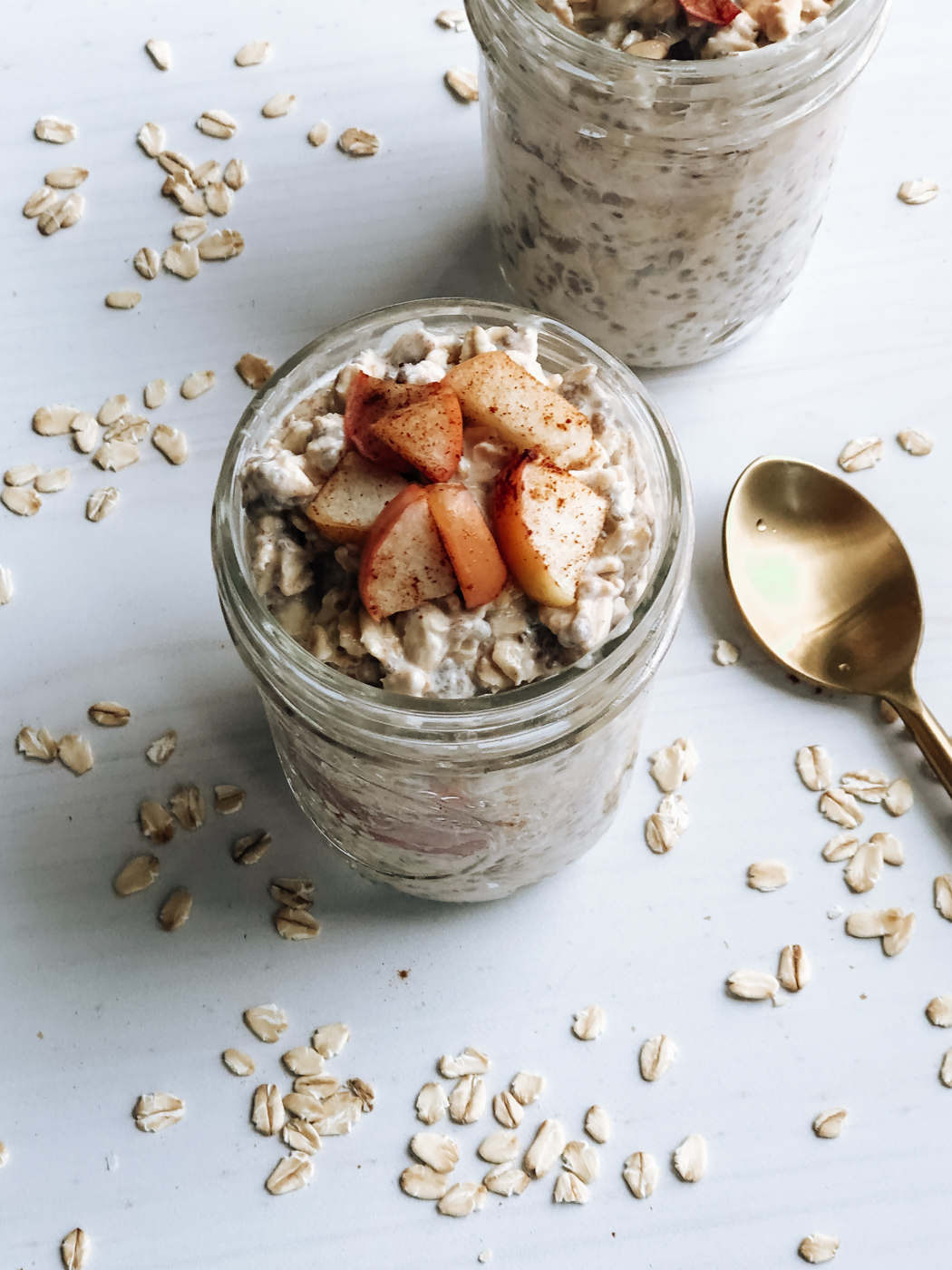 Apple Cinnamon Overnight Oats The Healthy Toast