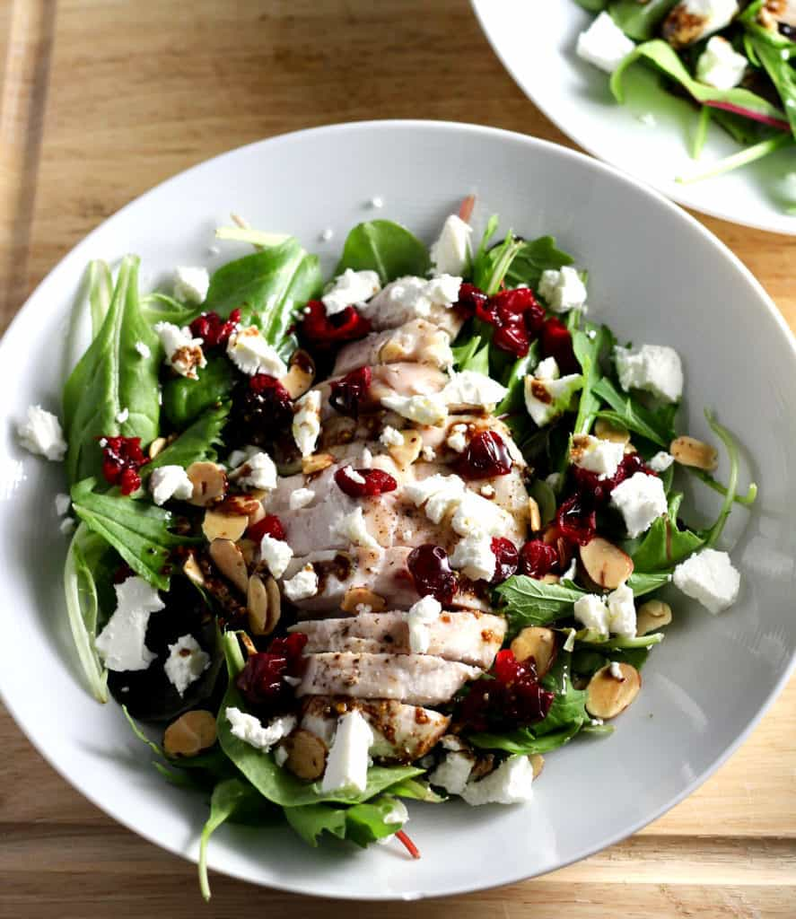 Roasted Cranberry Goat Cheese Salad