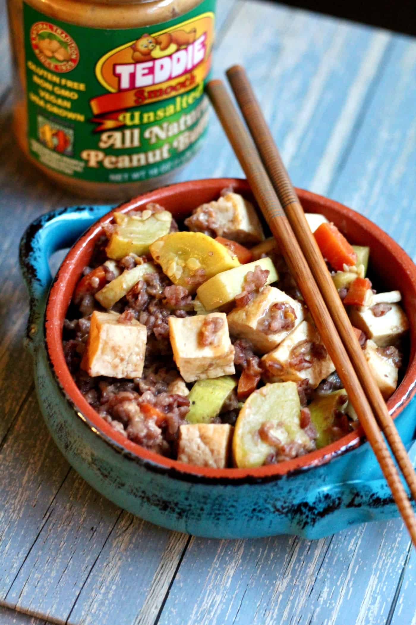 Simple Healthy Tofu Stir-Fry with Peanut Sauce