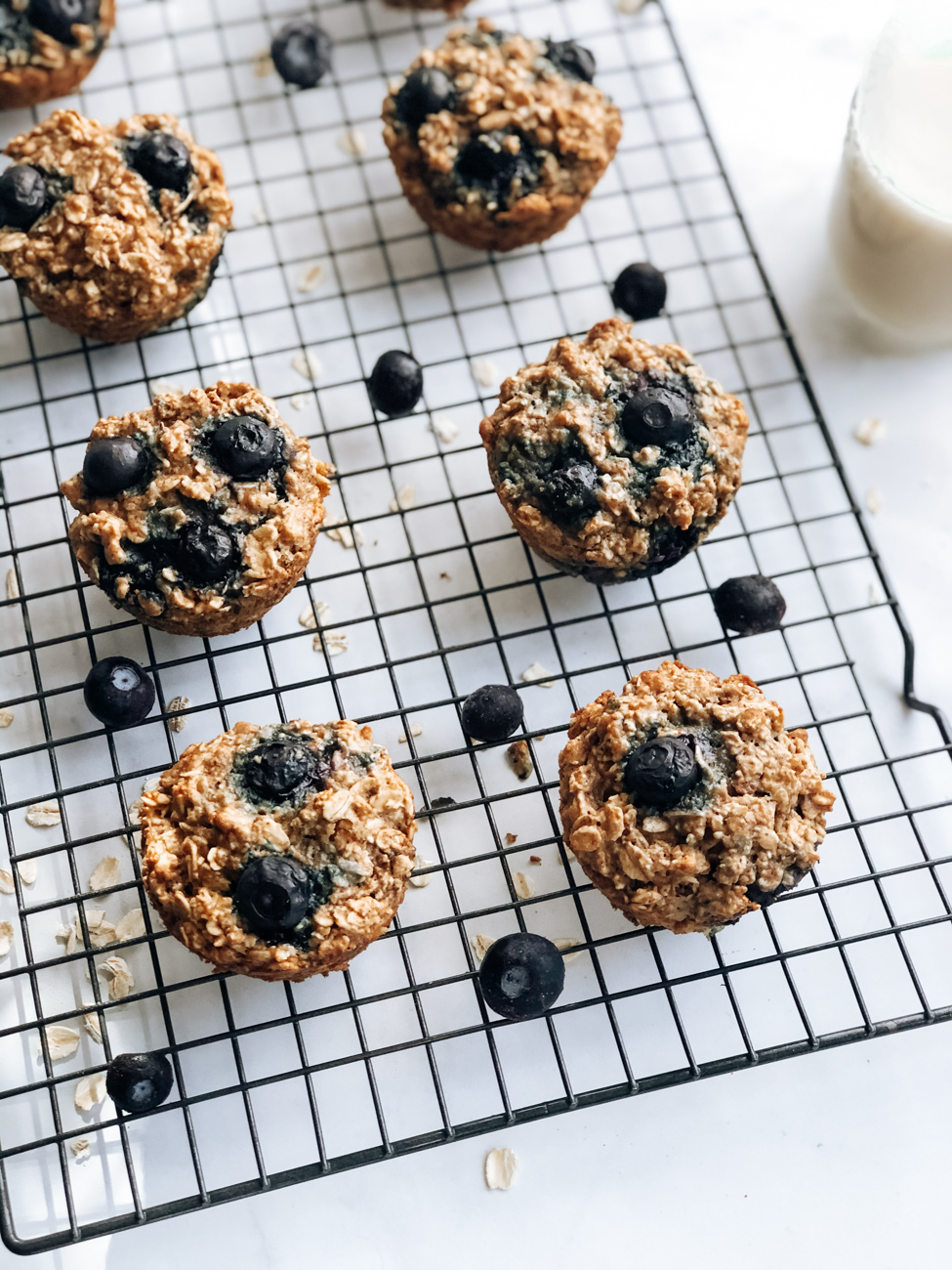 Almond Blueberry Oatmeal Muffins