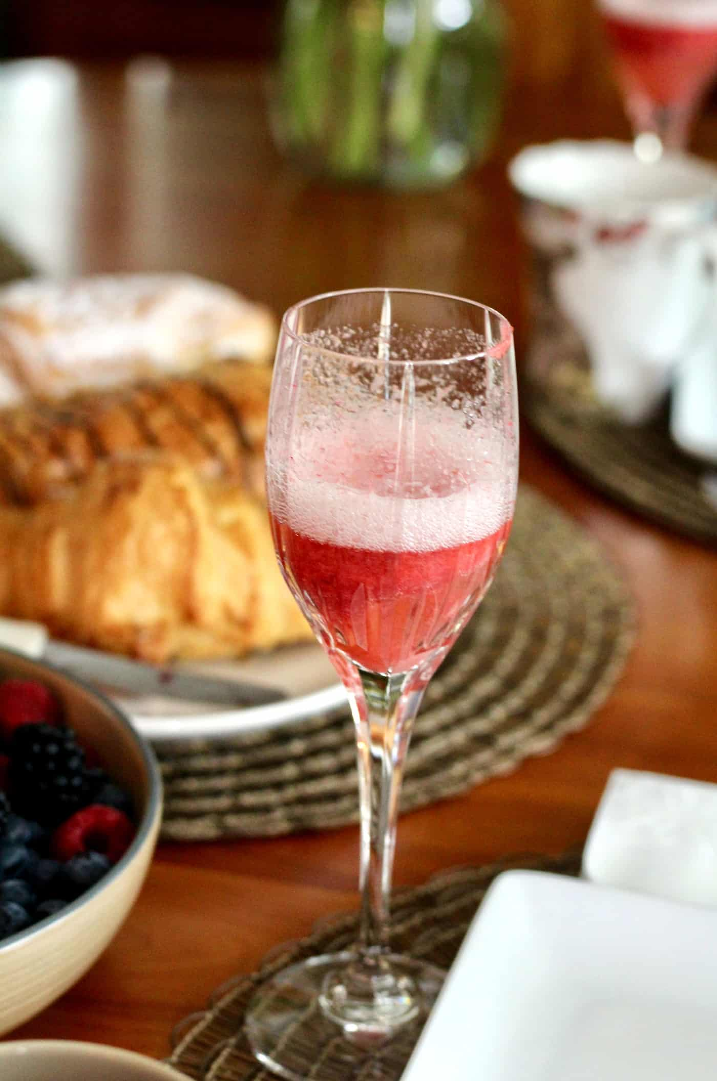 Strawberry Rhubarb Bellinis