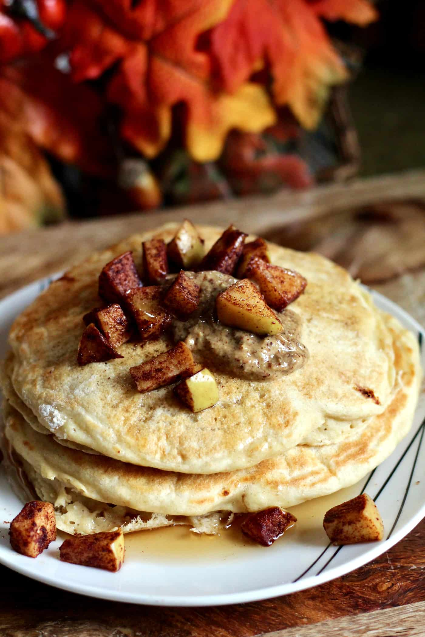 Greek Yogurt Apple Pancakes for Two