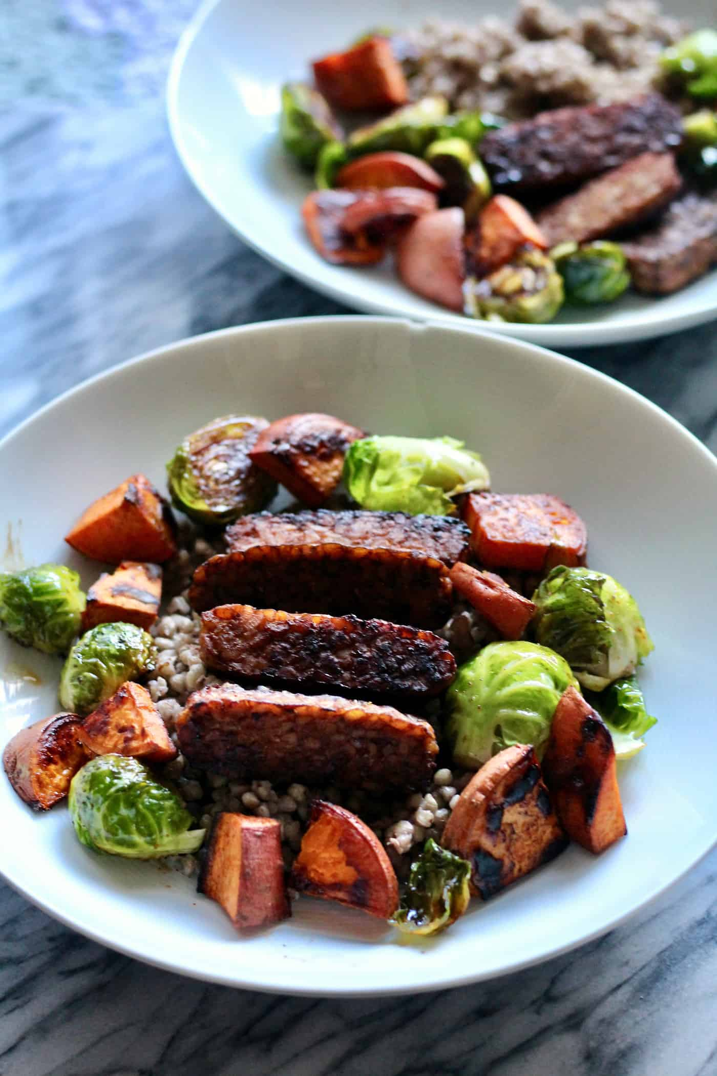 Sheet Pan Tempeh Maple Harvest Bowls