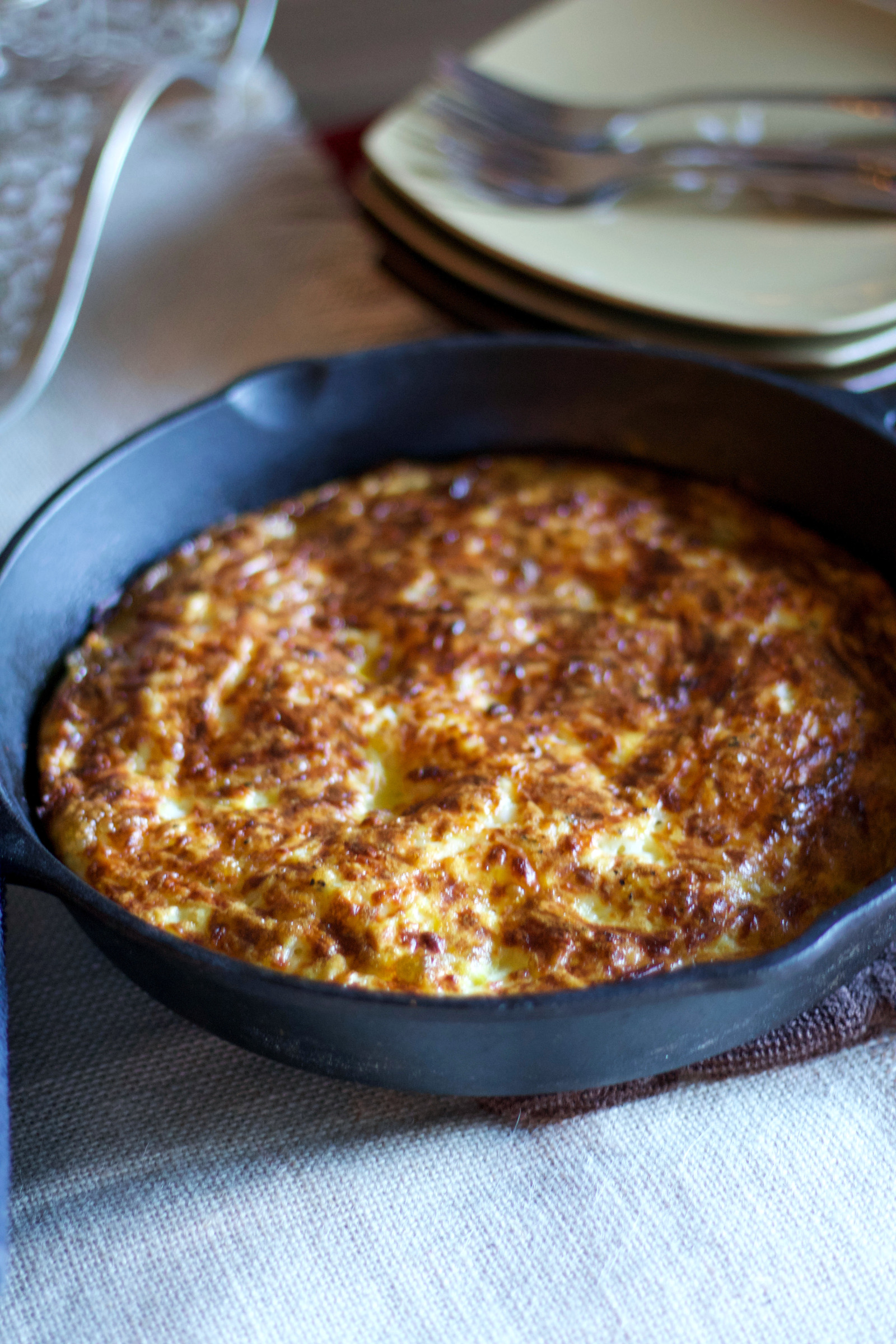 Healthy Cast Iron Sweet Potato Frittata