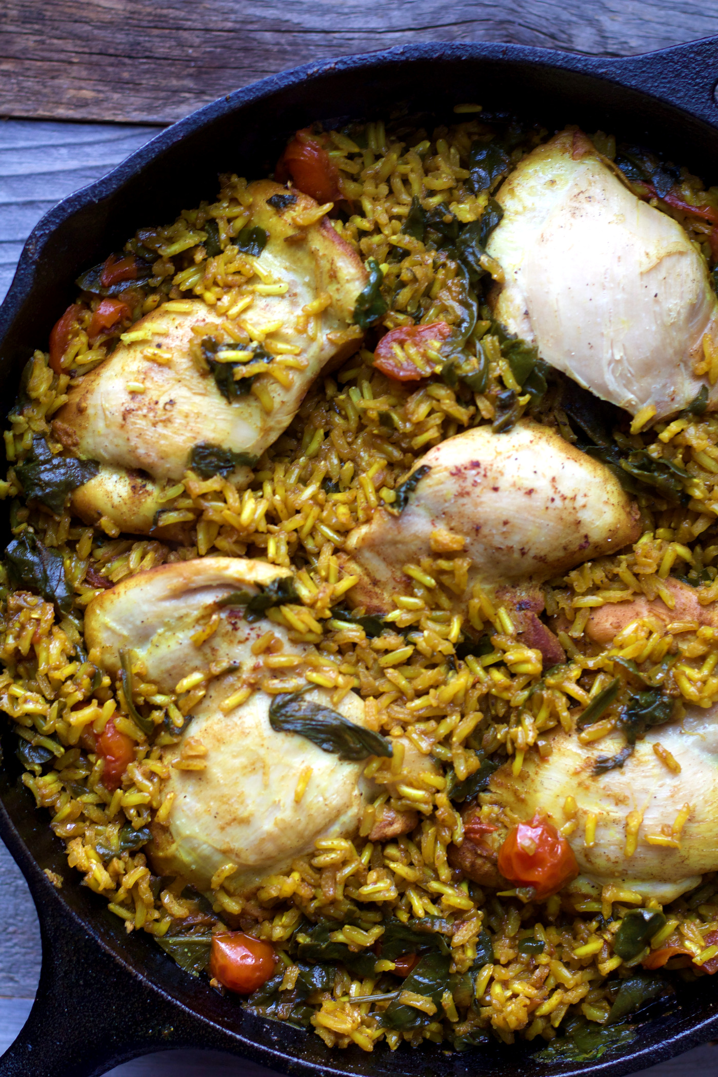 One-Pan Turmeric Chicken and Rice