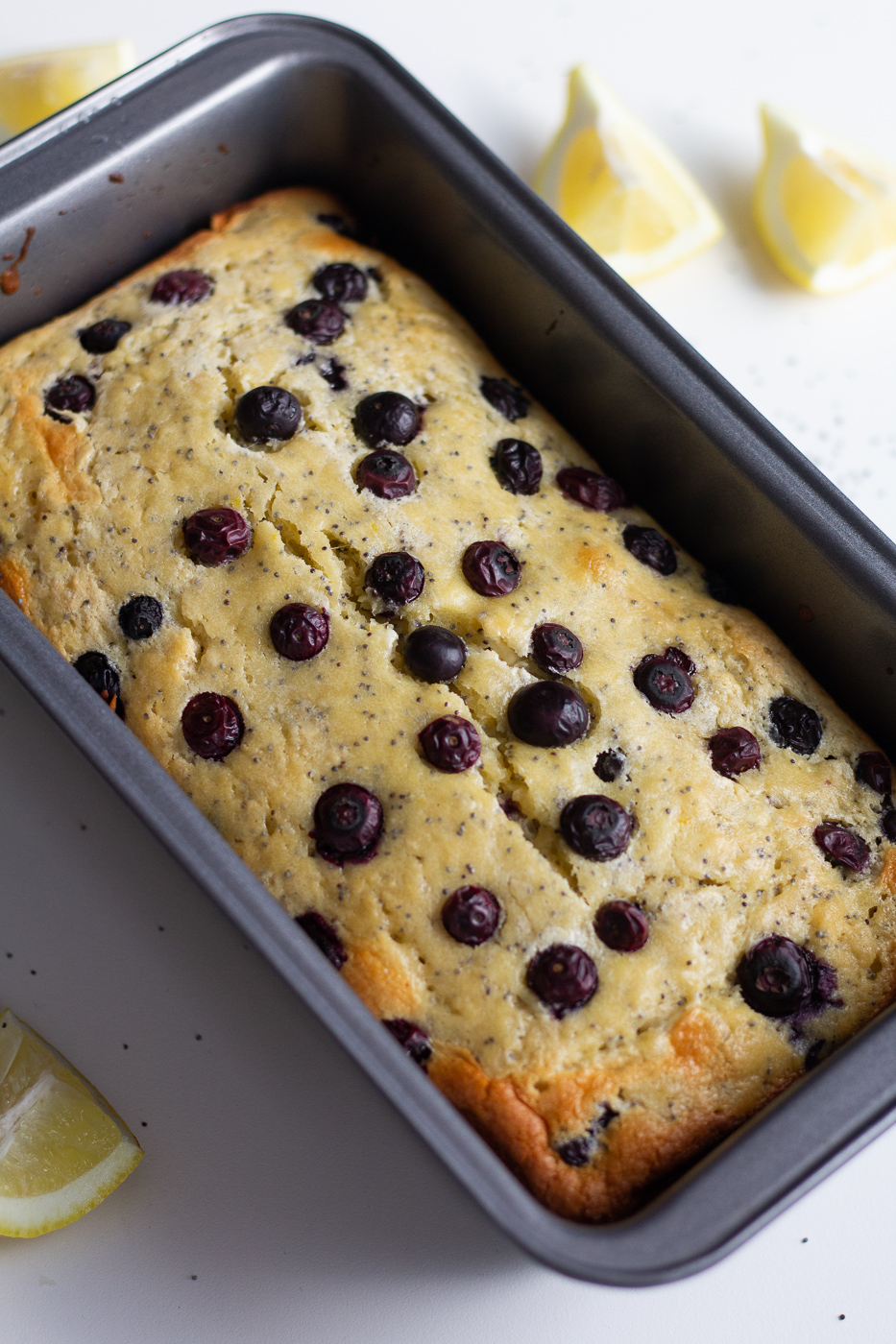 Healthier Blueberry Lemon Poppy Seed Bread