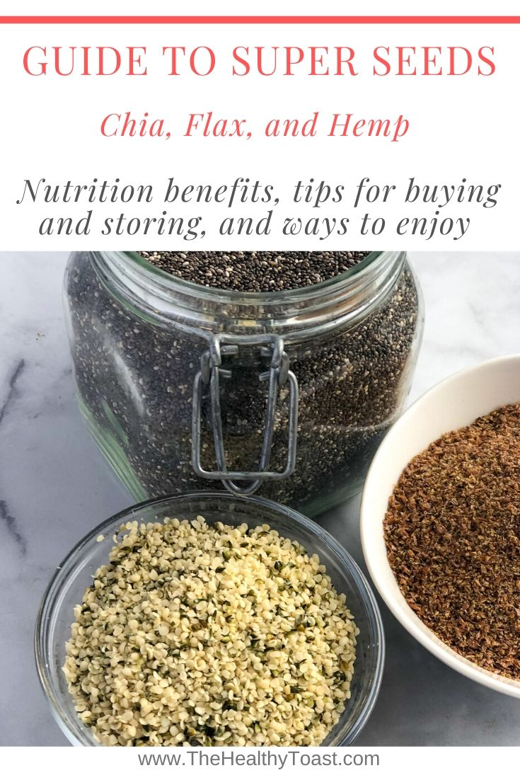 Dietitian Guide To Chia Flax And Hemp Seeds The Healthy Toast